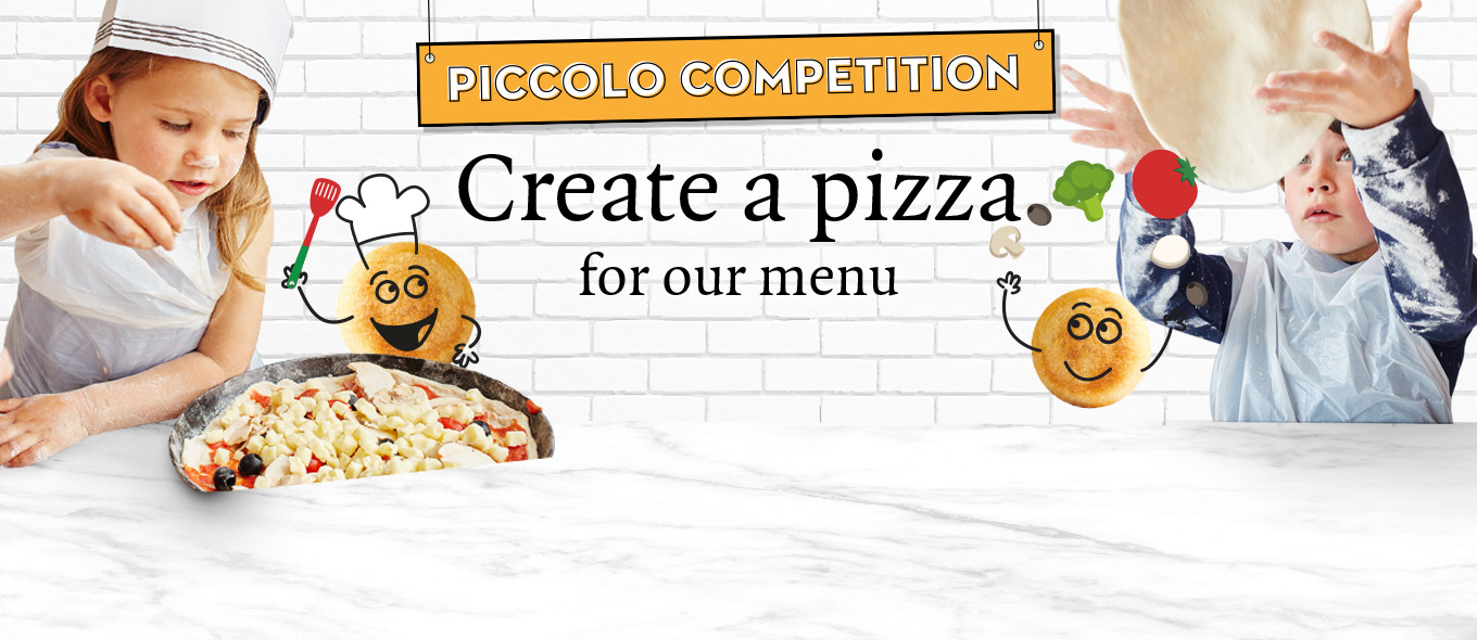 Create your own pizza kids' competition