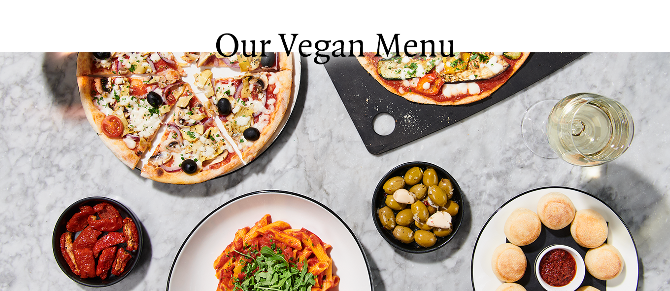 Our Vegan Menu